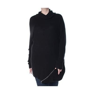 bar III $79 Womens Black Zipper Trim Turtle Neck Long Sleeve Sweater XXL B+