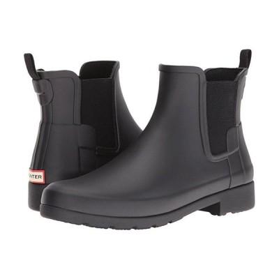 ハンター Original Refined Chelsea Boots レディース ブーツ Black