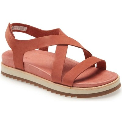 メレル MERRELL レディース サンダル・ミュール バックストラップ シューズ・靴 Juno Backstrap Sandal Redwood Leather