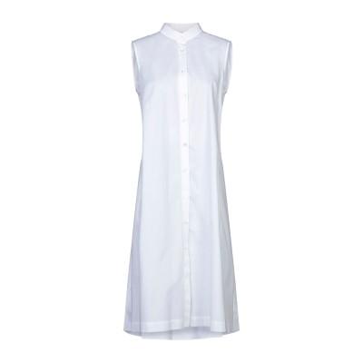 イレブンティ ELEVENTY 7分丈ワンピース・ドレス ホワイト 40 ポリエステル 65% / コットン 35% 7分丈ワンピース・ドレス