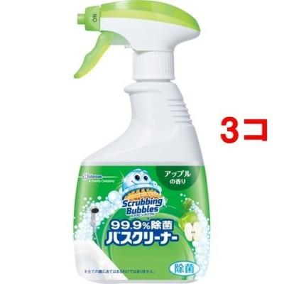 スクラビングバブル 99.9%除菌バスクリーナー アップルの香り 本体 (400ml*3コセット)