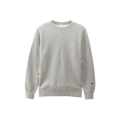 [チャンピオン] ワンポイントロゴ クルーネックスウェットシャツ ベーシック C3-Q006 メンズ オックスフォードグレー 日本 S (日本サイズS相当)