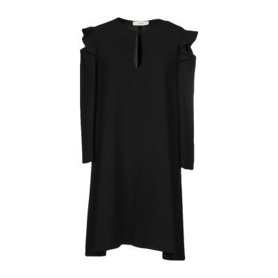 SUOLI ミニワンピース&ドレス ブラック 42 ポリエステル 100% ミニワンピース&ドレス