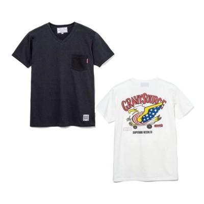 GRAVYSOURCE グレイビーソース 半袖Tシャツ 半袖 Vネック Tシャツ EAGLE V-TEE GS16-HCS05 hiphop ストリート ストリート系 ファッション おしゃれ オシャレ