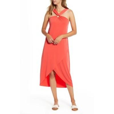 トッミーバハマ レディース ワンピース トップス Carmela Halter Maxi Dress POPPY RED