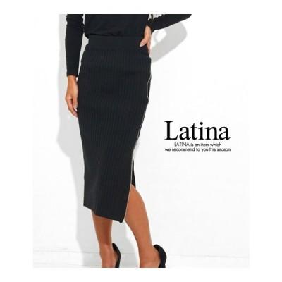 セール サイドZIPリブニットタイトスカート anap Latina(アナップラティーナ)