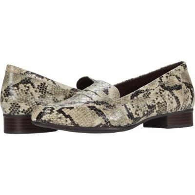 クラークス Clarks レディース シューズ・靴 Juliet Coast Taupe Synthetic Snake