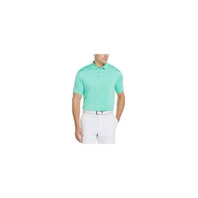 PGAツアー ポロシャツ トップス メンズ Men's Feeder Stripe Polo Shirt Electric Green