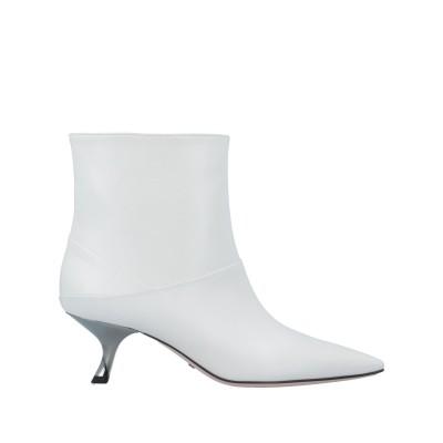 セバスチャン SEBASTIAN ショートブーツ ホワイト 35 牛革(カーフ) ショートブーツ
