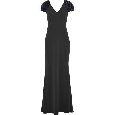 BADGLEY MISCHKA ロングワンピース&ドレス ブラック 8 ポリエステル 98% / ポリウレタン 2% ロングワンピース&ドレス