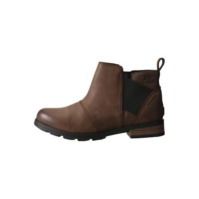 SOREL ソレル エミリーチェルシー ブーツ(防水仕様) レディース ブラウン 7(24)