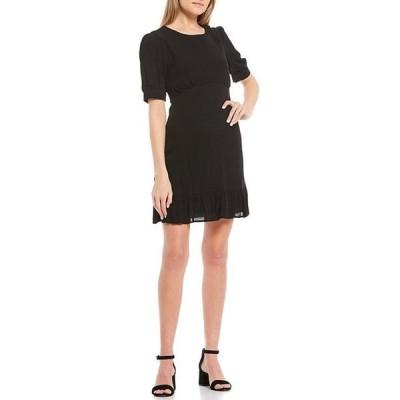 ジービー レディース ワンピース トップス Pleated Bodice Puff Sleeve Dress