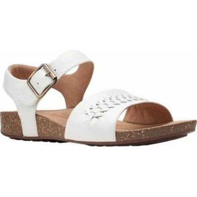 クラークス レディース サンダル シューズ Un Perri Way Ankle Strap Sandal White Full Grain Leather