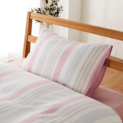 枕カバー ヘリンストライプ Sサイズ ピンク