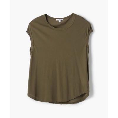 TOMORROWLAND/トゥモローランド ハイゲージ クルーネックTシャツ WEK3356 58 ダークグリーン系 2(L)