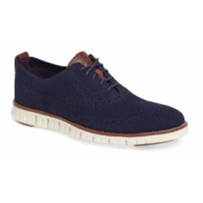 コールハーン COLE HAAN メンズ 革靴・ビジネスシューズ ウイングチップ シューズ・靴 Zerogrand Stitch-Lite Wingtip Oxford Marine Blu