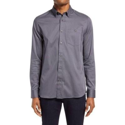 テッドベーカー メンズ シャツ トップス Shuger Slim Fit Stretch Button-Up Shirt Navy