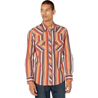 ロックアンドロールカウボーイ Rock and Roll Cowboy メンズ トップス Dale Brisby Long Sleeve Snap Serape Stripe B2S7092 Red