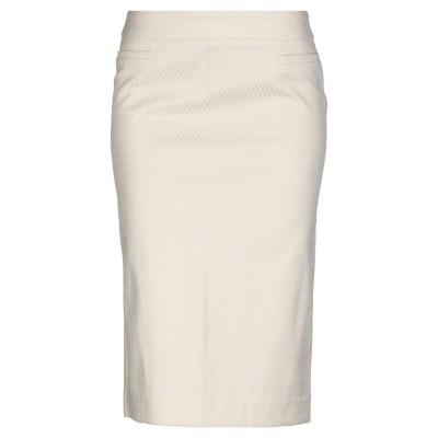 SILVERSANDS ひざ丈スカート ベージュ 34 コットン 53% / ポリエステル 44% / ポリウレタン 3% ひざ丈スカート