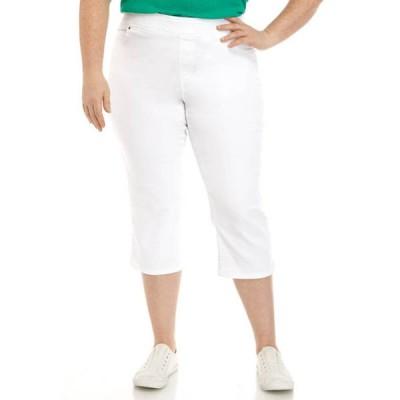 キム ロジャース レディース カジュアルパンツ ボトムス Plus Size Cotton Super Stretch Capri Pants