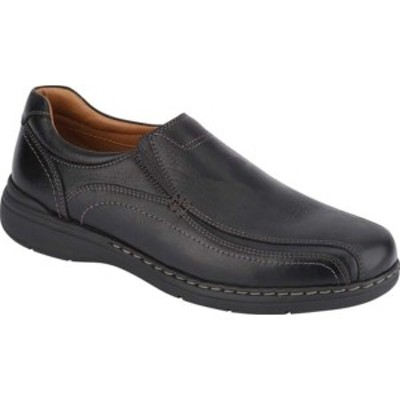 ドッカーズ メンズ スニーカー シューズ Mosley Bicycle Toe Slip-On Black Full Grain Leather