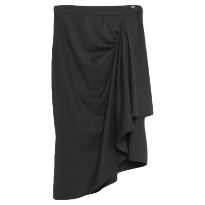 ロートレ ショーズ L' AUTRE CHOSE ひざ丈スカート ブラック 40 ポリエステル 62% / レーヨン 35% / ポリウレタン 3%