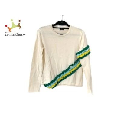 ポールスミス 長袖セーター サイズM レディース 美品 アイボリー×グリーン×マルチ フリル   スペシャル特価 20200422