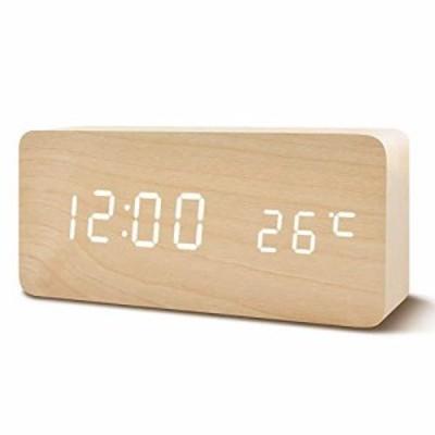 【送料無料】置き時計 置時計 デジタル おしゃれ 北欧 木目調LED アンティーク 時計 クロック 目覚まし時計 デジタル時計 アラーム時計