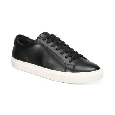 アルファニ ドレスシューズ シューズ メンズ Men's Grayson Lace-Up Sneakers, Created for Macy's Black w/ White