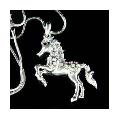 ネックレス インポート スワロフスキ クリスタル ジュエリー ~Equestrian Horse~ made with Swarovski Crystal Mustang Pony Colt Charm Necklace
