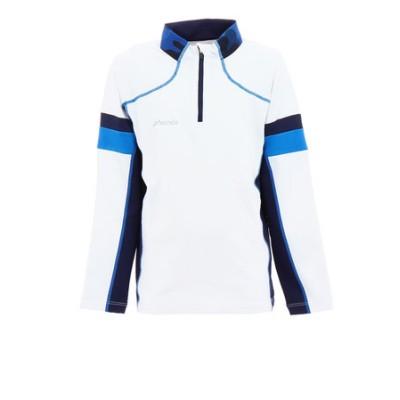 フェニックス(PHENIX)ジュニア ストレッチフリースジップTシャツ PSAG2LS80 WT