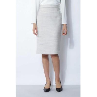 【ボッシュ】 ツィードセットアップスカート レディース グレー1 38 BOSCH