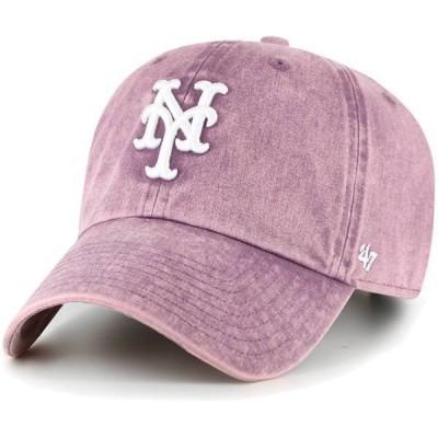 フォーティーセブン レディース 帽子 アクセサリー '47 Women's New York Mets Purple Snow Cone Clean Up Adjustable Hat