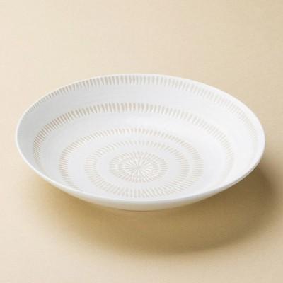 業務用食器 かんな丸7.5多用皿 22.7×4.6cm そば用食器