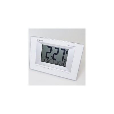 CITIZEN(シチズン) デジタル電波時計 目覚まし時計/掛置兼用 ホワイト 8RZ181-003 (代引不可)