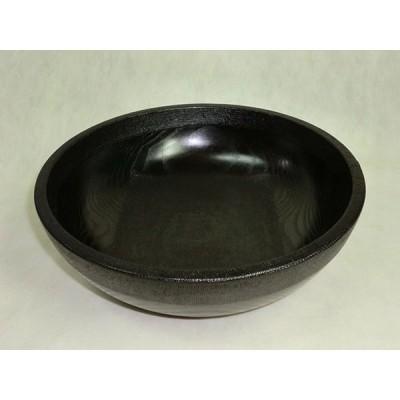 木製 渕・内底布張 黒拭漆 鉢 サラダボウル 8寸 24cm