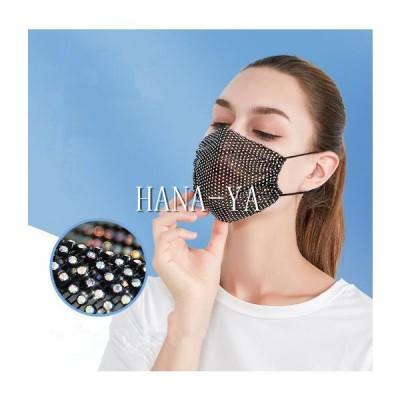 ぴかぴかマスク綺麗マスクお洒落マスク女性マスク飾り用小顔に見えるマスク個性的マスク