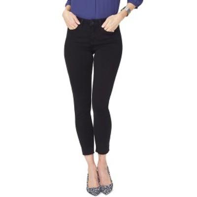 エヌワイディージェイ レディース デニムパンツ ボトムス Ami Release Hem Skinny Ankle Jeans BLACK