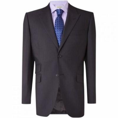 ハウィック Howick Tailored メンズ スーツ・ジャケット アウター Darlington Fine Stripe Suit Jacket Charcoal