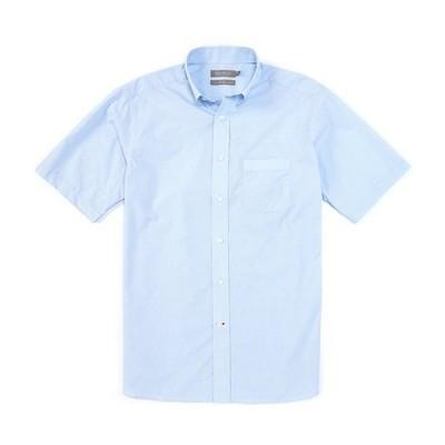 ダニエル クレミュ メンズ シャツ トップス Daniel Cremieux Signature Cotton Micro Check Short-Sleeve Woven Shirt