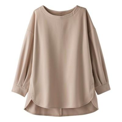 tシャツ Tシャツ ツイル起毛素材サイドボタンプルオーバー