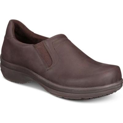 イージーストリート Easy Street レディース クロッグ シューズ・靴 Easy Works by Bind Slip-on Clogs Brown Oil Nubuck