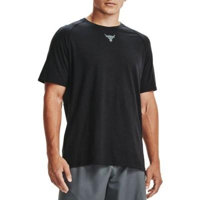 アンダーアーマー Under Armour メンズ ラクロス Tシャツ トップス Project Rock Charged Cotton T-Shirt Black/Pitch Gray