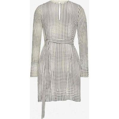 リース REISS レディース ワンピース ミニ丈 ワンピース・ドレス Elissa spot-print chiffon mini dress BLACK/WHITE