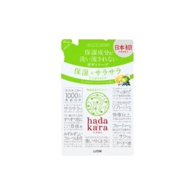 hadakara(ハダカラ)ボディソープ 保湿+サラサラ仕上がりタイプ グリーンフルーティの香り つめかえ用 340ml