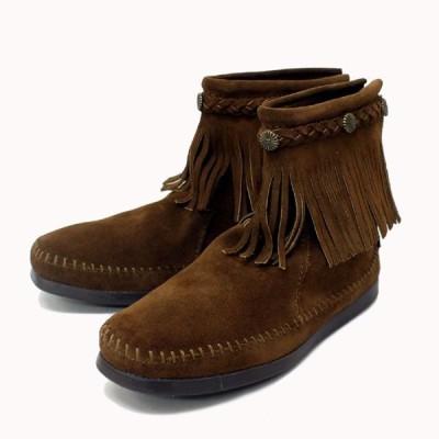 sale セール MINNETONKA(ミネトンカ) Hi Top Back Zip Boots(ハイトップバックジップブーツ)#293 DUSTY BROWN SUEDE レディース MT221