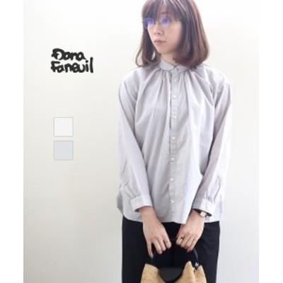 ダナファヌル ギャザーシャツ DANA FANEUIL D-6321110 国内正規品 2021春夏新作 送料無料