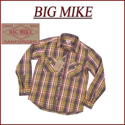 BIG MIKE ビッグマイク 復刻 長袖 チェック ヘビーネルシャツ Made in INDIA