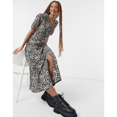 エイソス レディース ワンピース トップス ASOS DESIGN ultimate midi tea dress in leopard print Leopard print