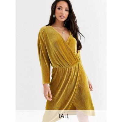 ワイ エー エス Y.A.S Tall レディース ワンピース ミニ丈 ワンピース・ドレス Narly crossover mini dress マスタード